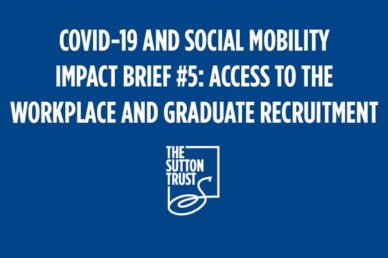 Image of the Sutton Trust report