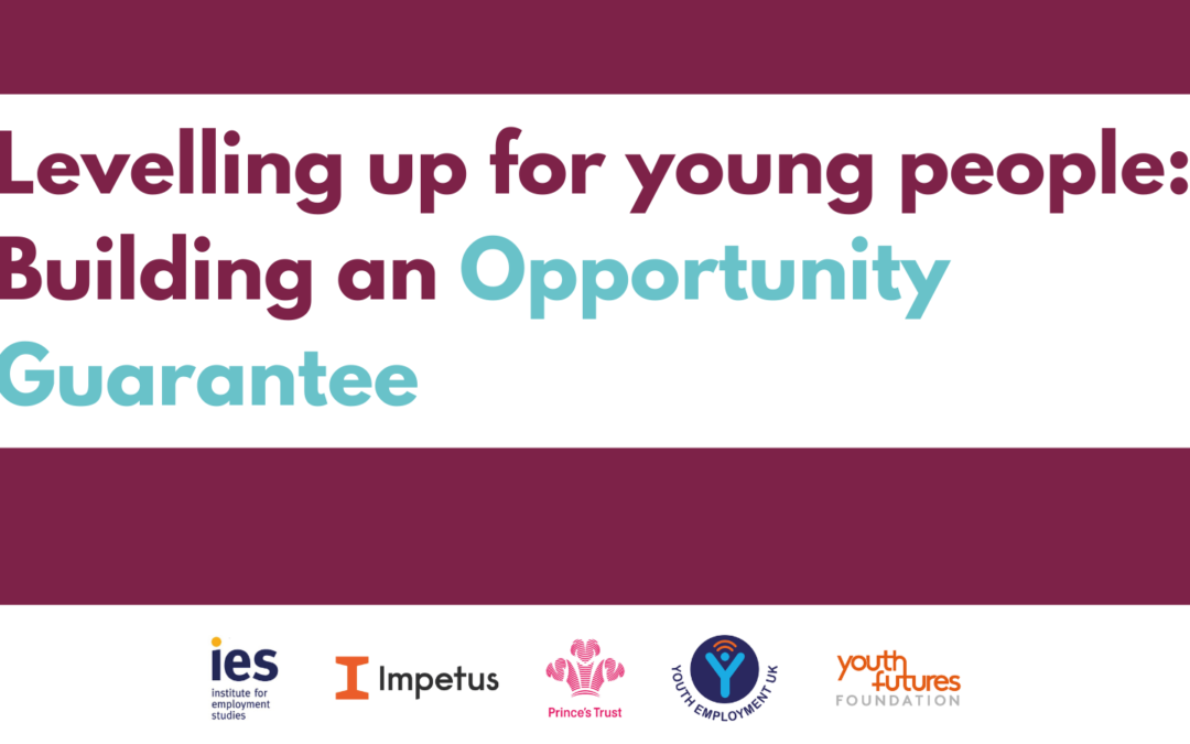 An Opportunity Guarantee for young people