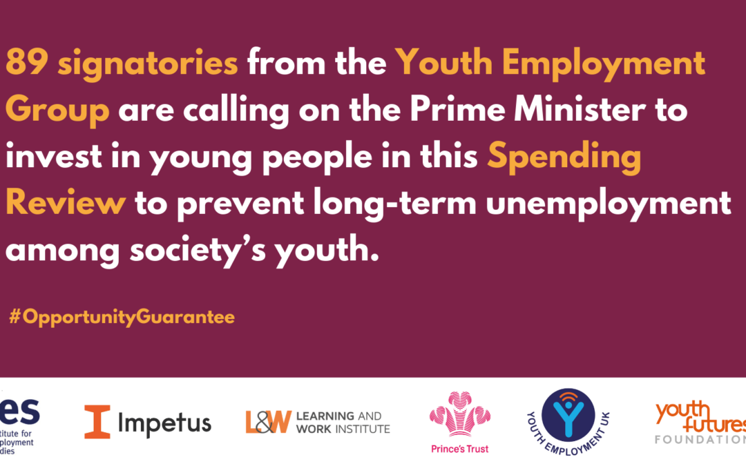 Sector calls on Prime Minister to deliver Opportunity Guarantee for young people
